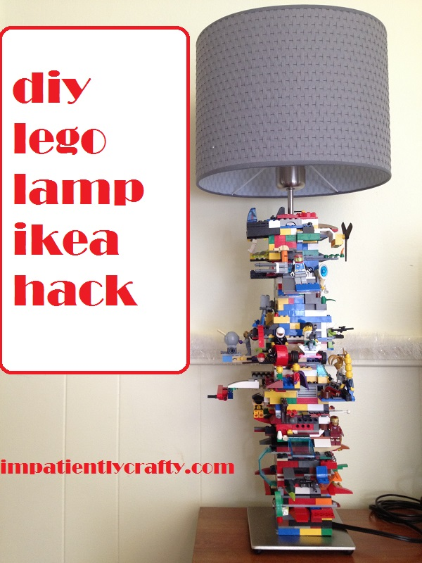 diy lego lamp tutorial ikea alang lamp hack