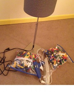 diy lego lamp supplies hot glue gun alang lamp ikea hack legos from ebay