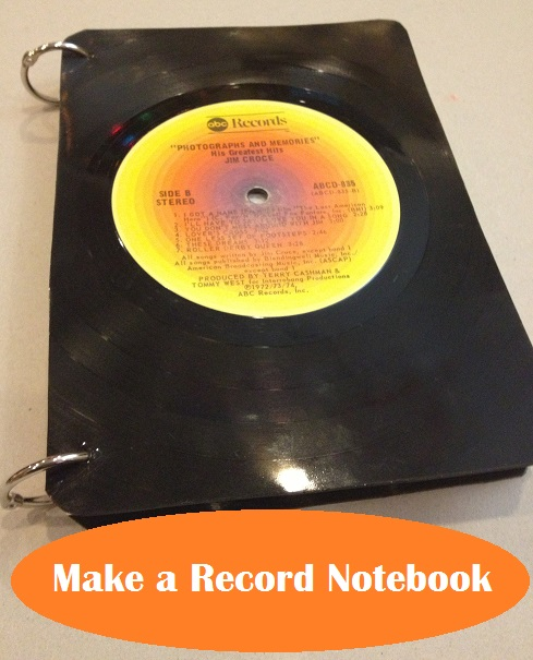 upcycled record notebook