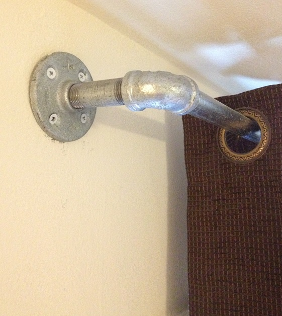 plumbing galvanized pipe fixture for curtains