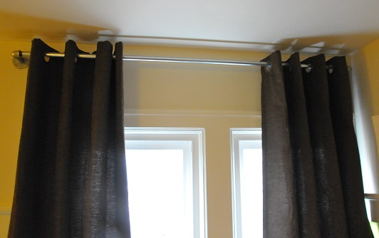 plumbing fixture curtains how to tutorial