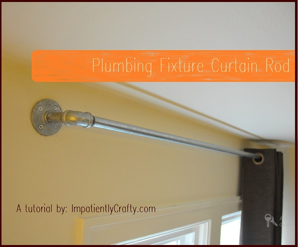 plumbing fixture curtain rod tutorial