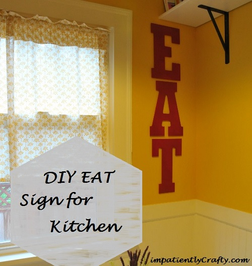 DIY painted letters for kitchen