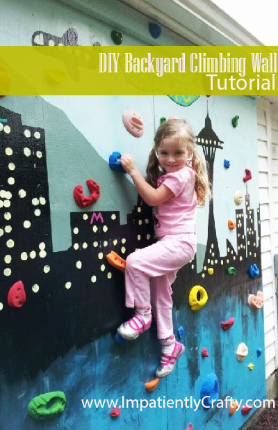 diy tutorial backyard climbing wall kids atomik