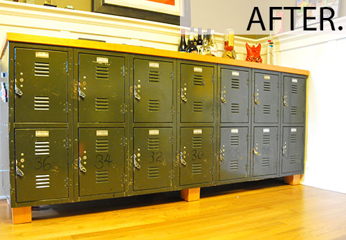 locker made into sideboard furniture dresser upcycle reuse diy