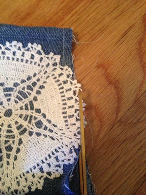 supplies diy doily shorts cutoff jeans lace tutorial