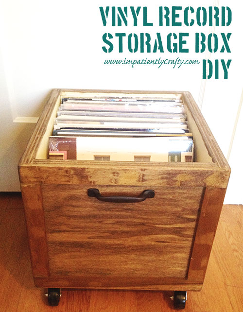 Diy Lp Record Storage Box On Wheels