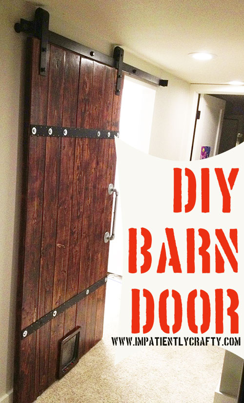 Barn door with cat door diy & DIY Barn Door from Simple 2×6u0027s |