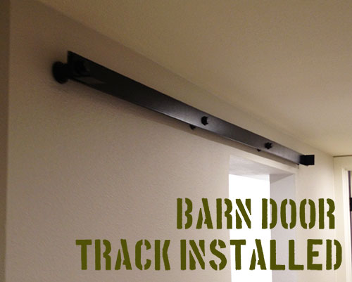 barn door track installed