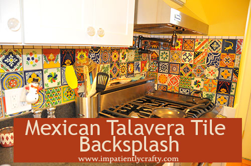mexican talavera tile backspash kitchen