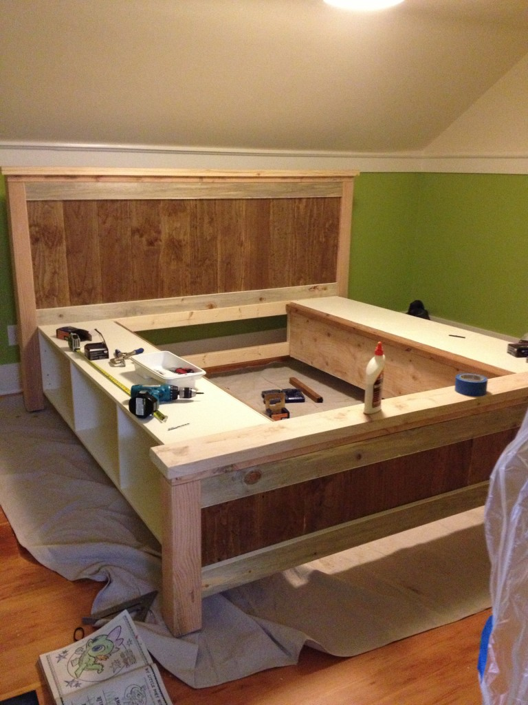 Diy farmhouse bed from ana white plans