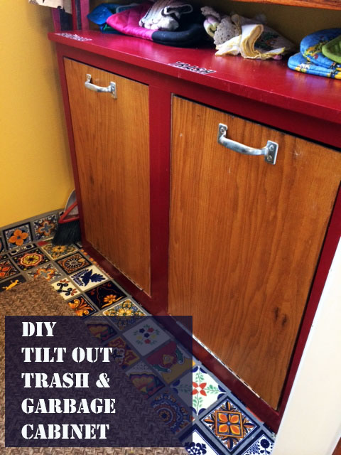 Double Tilt Out Trash Amp Recycle Bin Diy