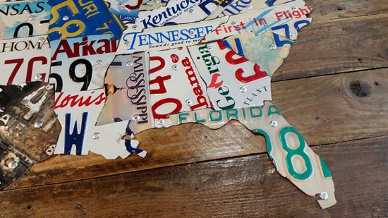 DIY Tutorial – License Plate Map of the United States |