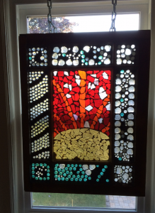 stained glass window mosaic
