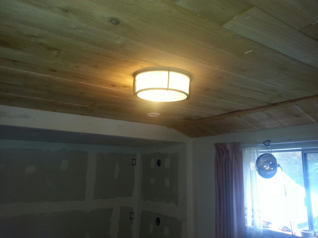 cover popcorn ceilings cheaply cedar fence boards