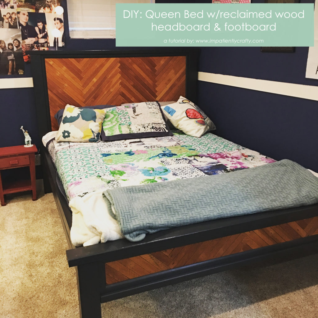 half off 1c135 c2b3c DIY: Queen Bed with Reclaimed Wood Headboard and Footboard