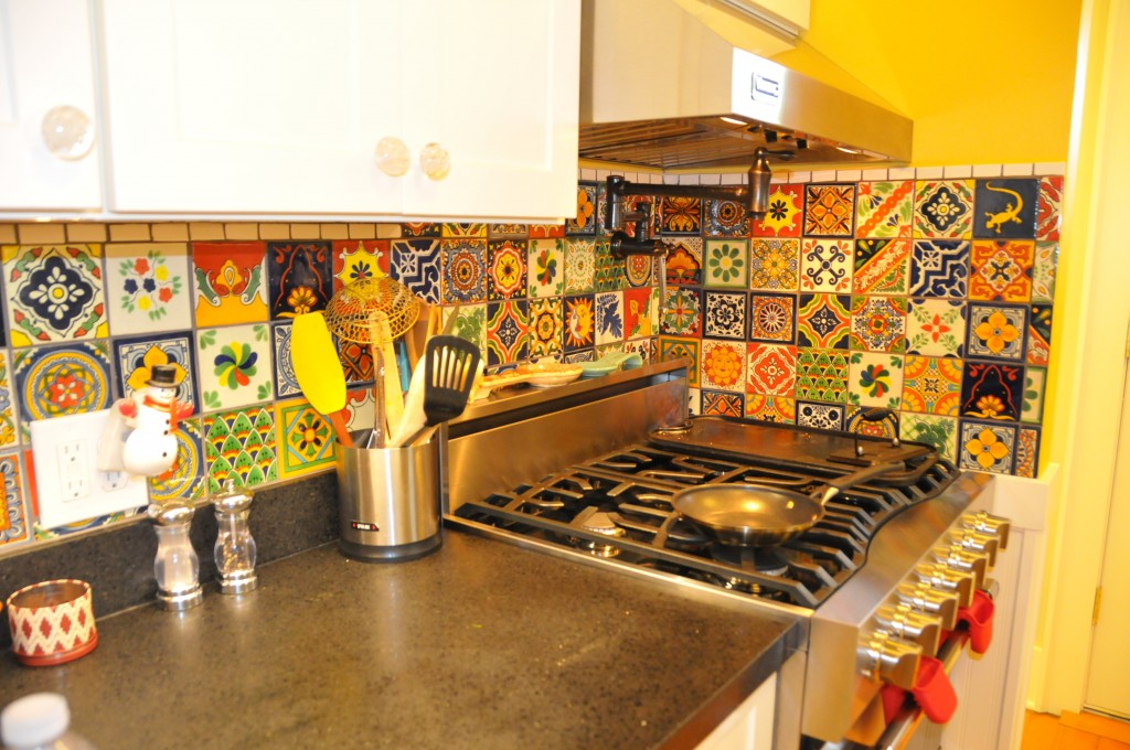 talavera tile kitchen backsplash eclectic mixed talavera tile backsplash 5975